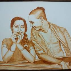Teen Lovers size - 30x22In - 30x22