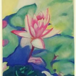 Serene lotus size - 22x31In - 22x31