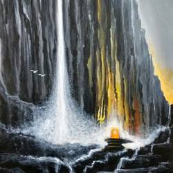 Sivalinga at at hills size - 24x36In - 24x36