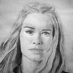 Cersei Lannister - A4 size - 11.69x8.27In - 11.69x8.27