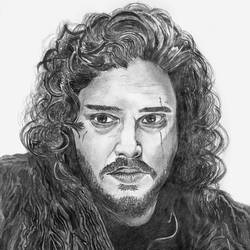 Jon Snow - A4 size - 11.69x8.27In - 11.69x8.27