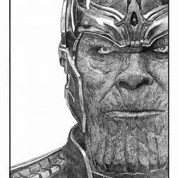 Thanos - Avengers - Marvel - MCU - A4 size - 11.69x8.27In - 11.69x8.27