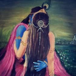 radha krishan in love size - 20x28In - 20x28