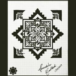 Geometric Lotus Mandala Series (2) size - 7x5In - 7x5