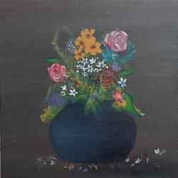 Flower vase Acrylic size - 12x12In - 12x12