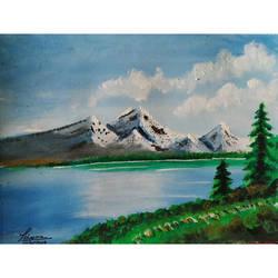 Mountains & Lake size - 7.5x5.7In - 7.5x5.7