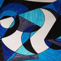 Geometric pattern size - 12x10In - 12x10