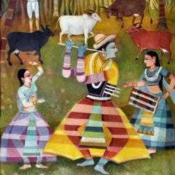 DANCING KRISHNA size - 11.8x19.7In - 11.8x19.7