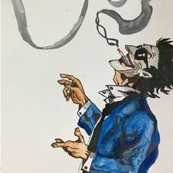 Smoking Laughing  Joker size - 11.69x16.53In - 11.69x16.53