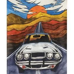 Ride like lightning crash like thunder size - 11.69x16.53In - 11.69x16.53