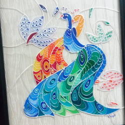 Twin peacocks size - 10x12In - 10x12