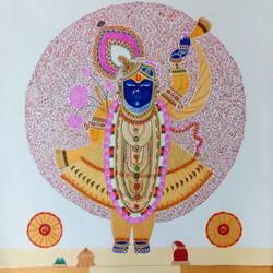 Shreenathji size - 30x36In - 30x36