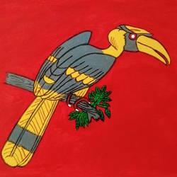 Hornbill size - 11x7In - 11x7