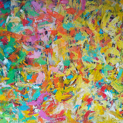 Abstract Landscape size - 42x34In - 42x34