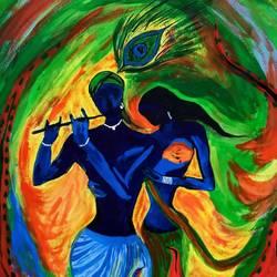 Radha-Krishna size - 11x16In - 11x16