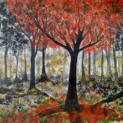 Autumn trees size - 16x11In - 16x11