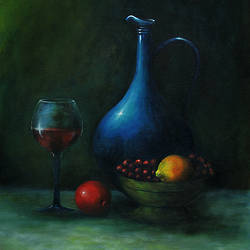 Wine and water size - 18x30In - 18x30