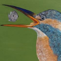 The Kingfisher size - 12x12In - 12x12