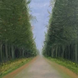 A long beautiful road size - 18x24In - 18x24