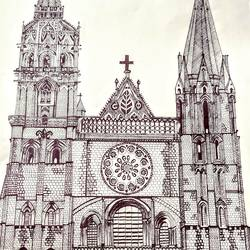 Gothic Architecture size - 10.83x13.67In - 10.83x13.67
