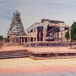 Tanjore Big Temple size - 19.5x13In - 19.5x13