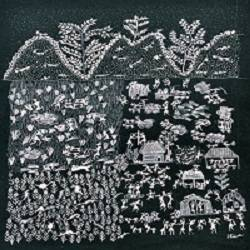 ANCIENT   WARLI ARTS  ON HANDMADE PAPER size - 13x18In - 13x18