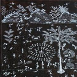 ANCIENT   WARLI ARTS  ON HANDMADE PAPER size - 15x22In - 15x22