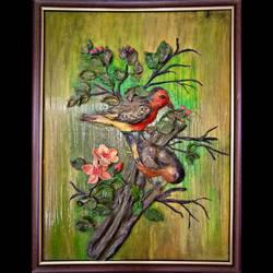 Birds in Love size - 18x24In - 18x24
