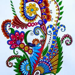Colourful Zentangle size - 11x16In - 11x16