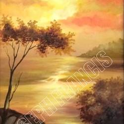 SUNSET OF  KERALA size - 12x24In - 12x24