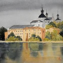 Berdychiv Monastery, Uhraine size - 20x12.5In - 20x12.5
