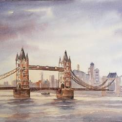 Tower Bridge, London, UK size - 20x14In - 20x14