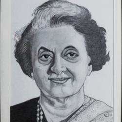 Late Smt.Indira Gandhi size - 9x13In - 9x13