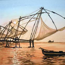 Chinese Fishing Nets, Kerala, India size - 12x20In - 12x20