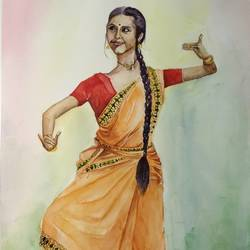 Saraswati size - 15x22In - 15x22