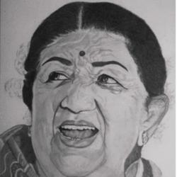 Singer Lata Mangeshkar -Singer  size - 10.5x15In - 10.5x15