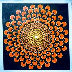 Mandala Art size - 20x20In - 20x20
