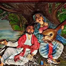 Heer-Raanjha Painting size - 36x27In - 36x27