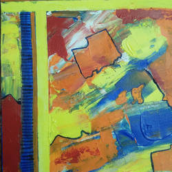Abstract Painting size - 10x12In - 10x12