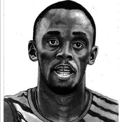 Usain Bolt-Olympic Athlete  size - 7.5x11In - 7.5x11