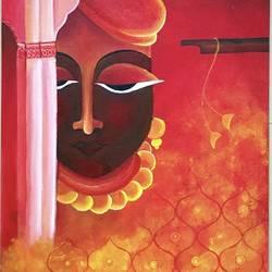 Krishna  size - 18x30In - 18x30