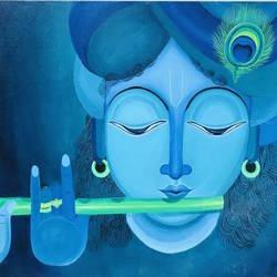 Krishna  size - 48x24In - 48x24