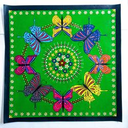 Butterfly Mandala size - 19x19In - 19x19