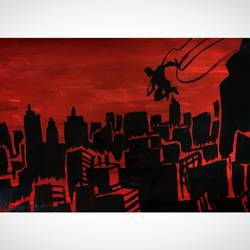 Daredevil and the city size - 8.27x11.69In - 8.27x11.69