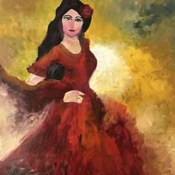 Dressed for Flamenco size - 12x18In - 12x18
