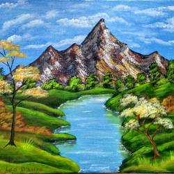Landscape painting size - 18x12In - 18x12