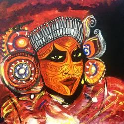 religious dancer artwork size - 14x12In - 14x12