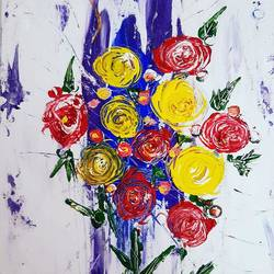 Abstract Floral Painting size - 13x20In - 13x20
