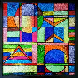 Glass painting size - 20x20In - 20x20