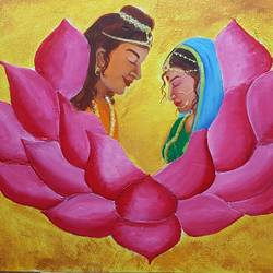Marriage of Buddha  size - 36x24In - 36x24